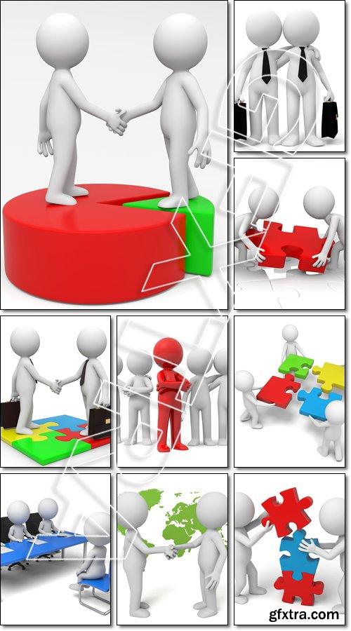 Business 3D Ilustration - Stock photo