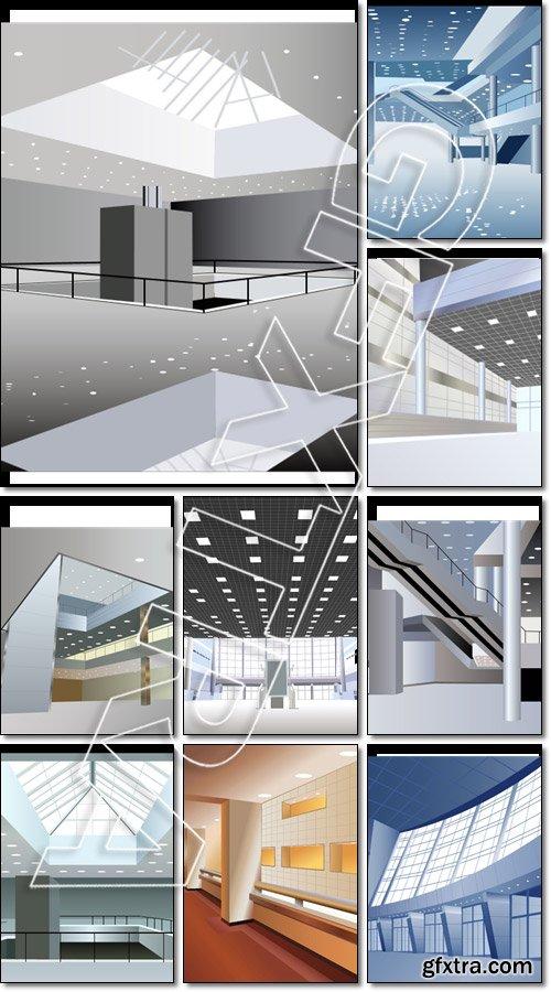 Modern business interior - Vector
