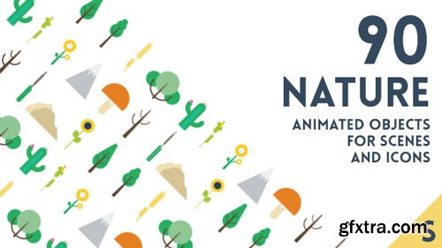 Videohive - 90 Animated Nature Elements - 15851041