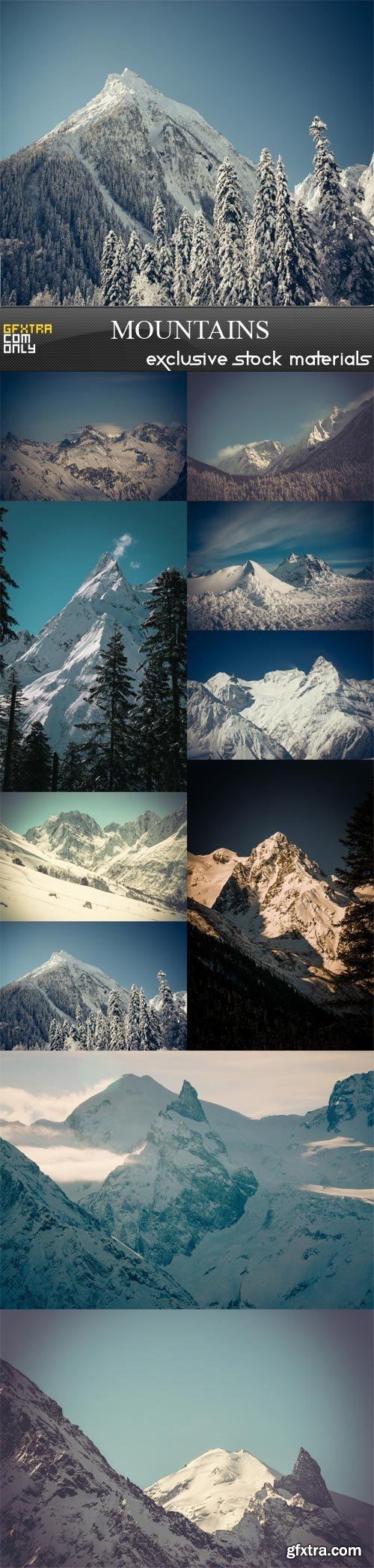 Mountains, 10 x UHQ JPEG