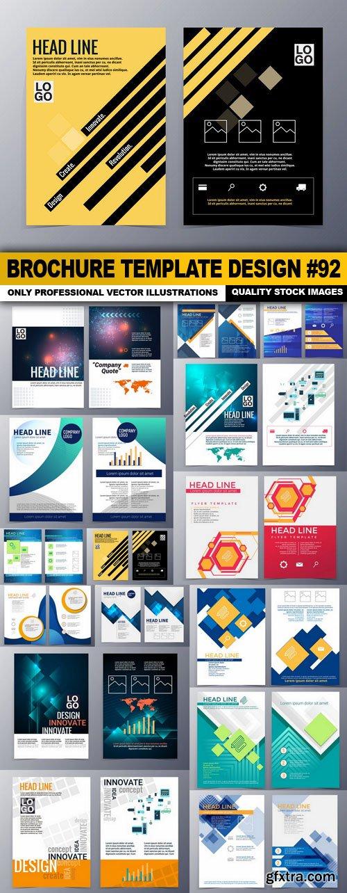 Brochure Template Design #92 - 15 Vector