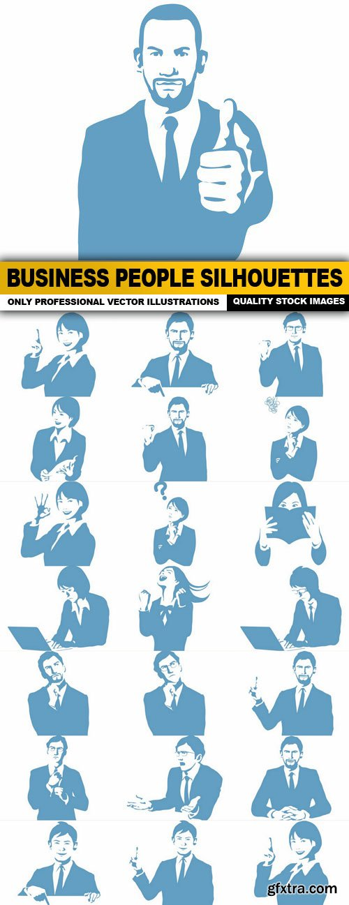 Business People Silhouettes - 22 Vector