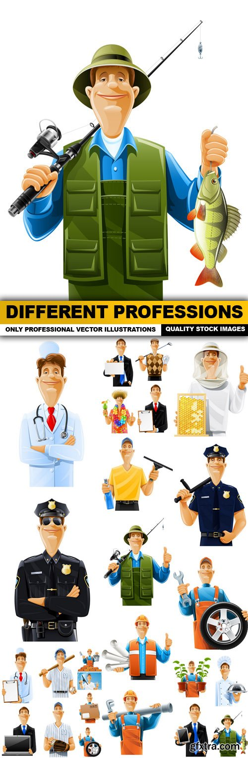 Different Professions - 25 Vector