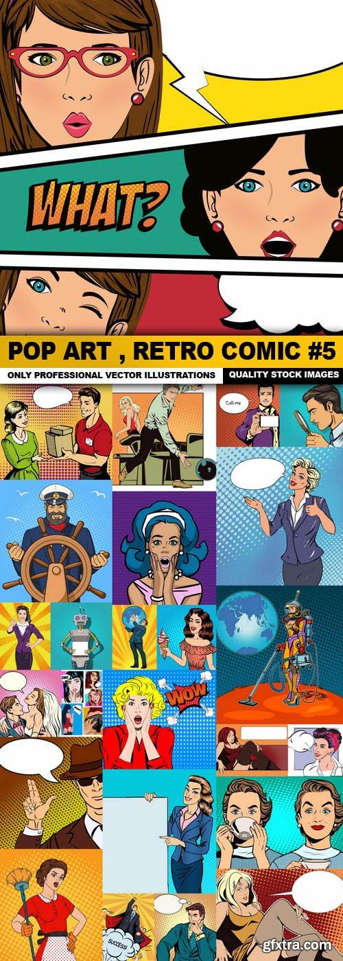 Pop Art , Retro Comic #5 - 25 Vector