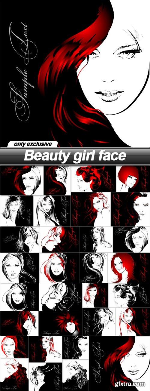 Beauty girl face - 31 EPS
