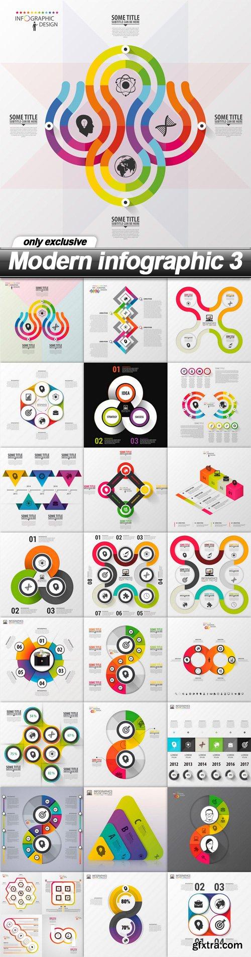 Modern infographic 3 - 25 EPS