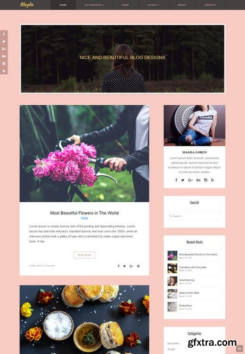 Magda - Responsive Blog - CM 594956