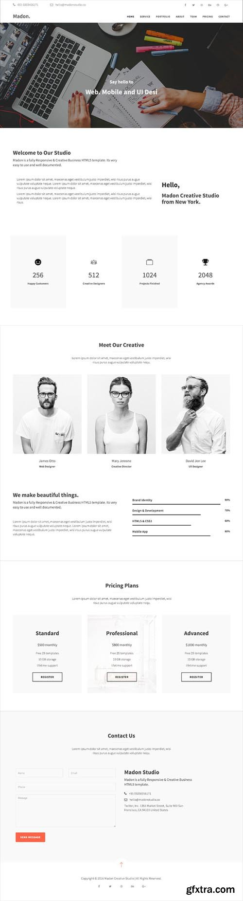 Madon - Business HTML Template - CM 629191
