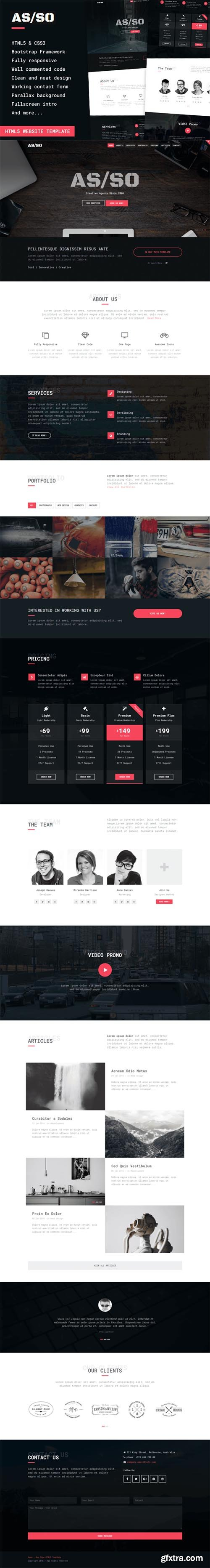 Asso - One Page HTML5 Template - CM 602947