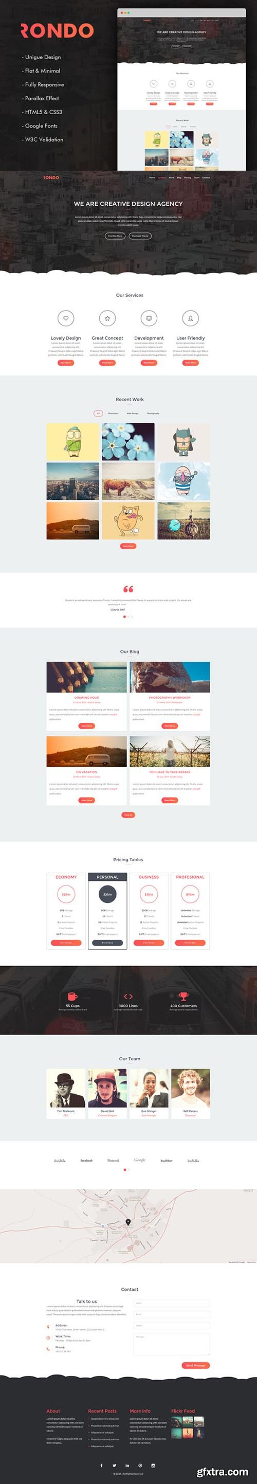 Rondo - Responsive One Page Template - CM 606289
