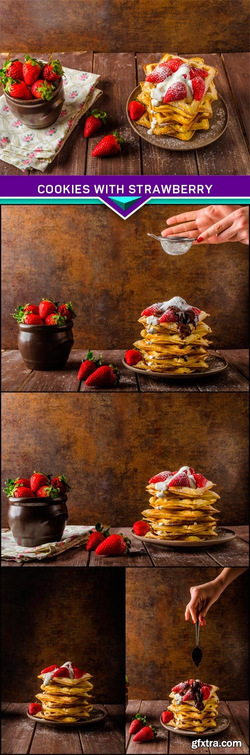 Cookies with strawberry 5x JPEG