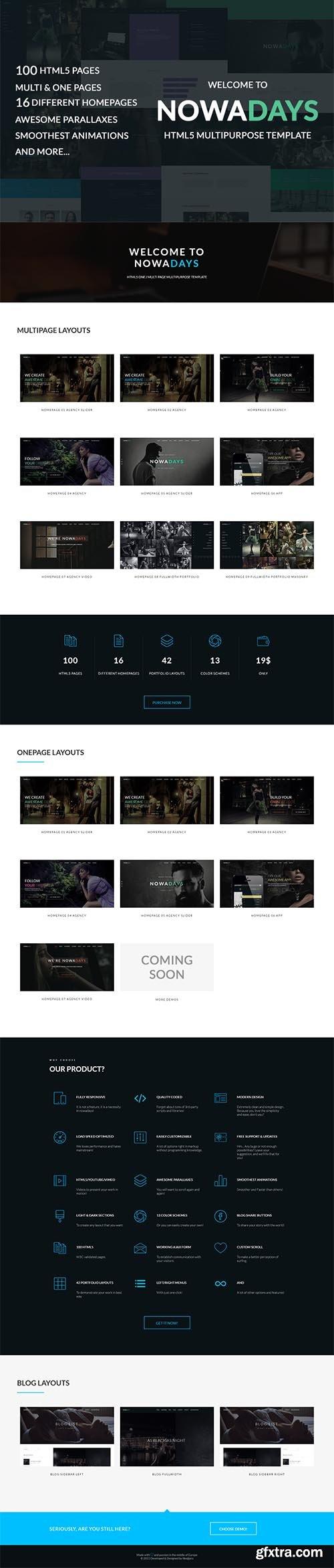 NowaDays-Multipurpose 100 HTML Theme - CM 656154
