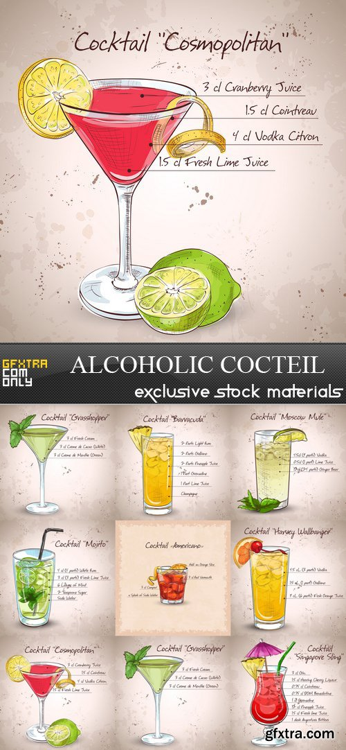 Alcoholic Cocteil № 1 - 8 EPS