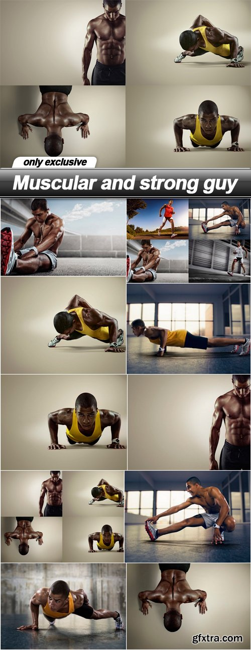 Muscular and strong guy - 10 UHQ JPEG