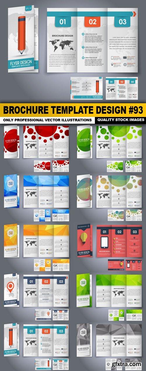 Brochure Template Design #93 - 10 Vector