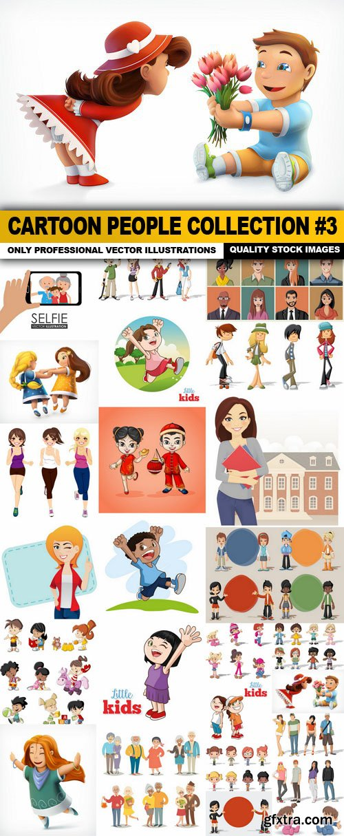 Cartoon People Collection #3 - 25 Vector