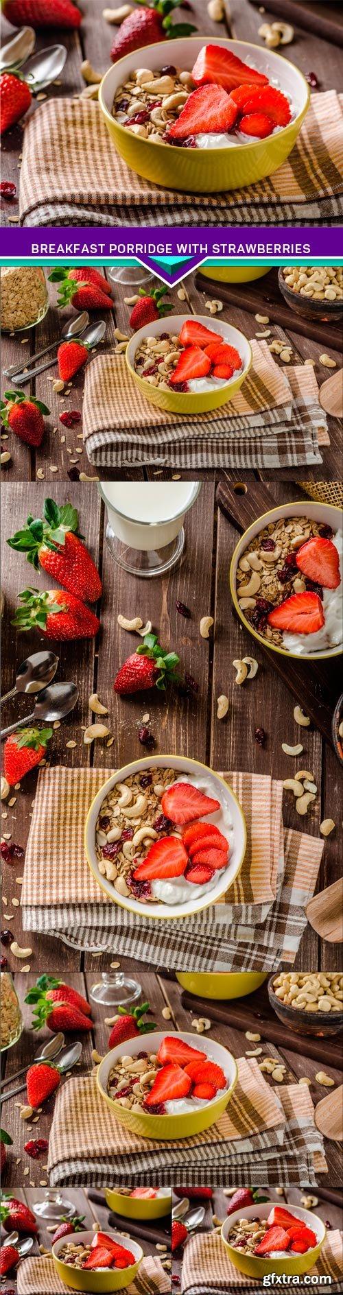 Breakfast porridge with strawberries 5x JPEG