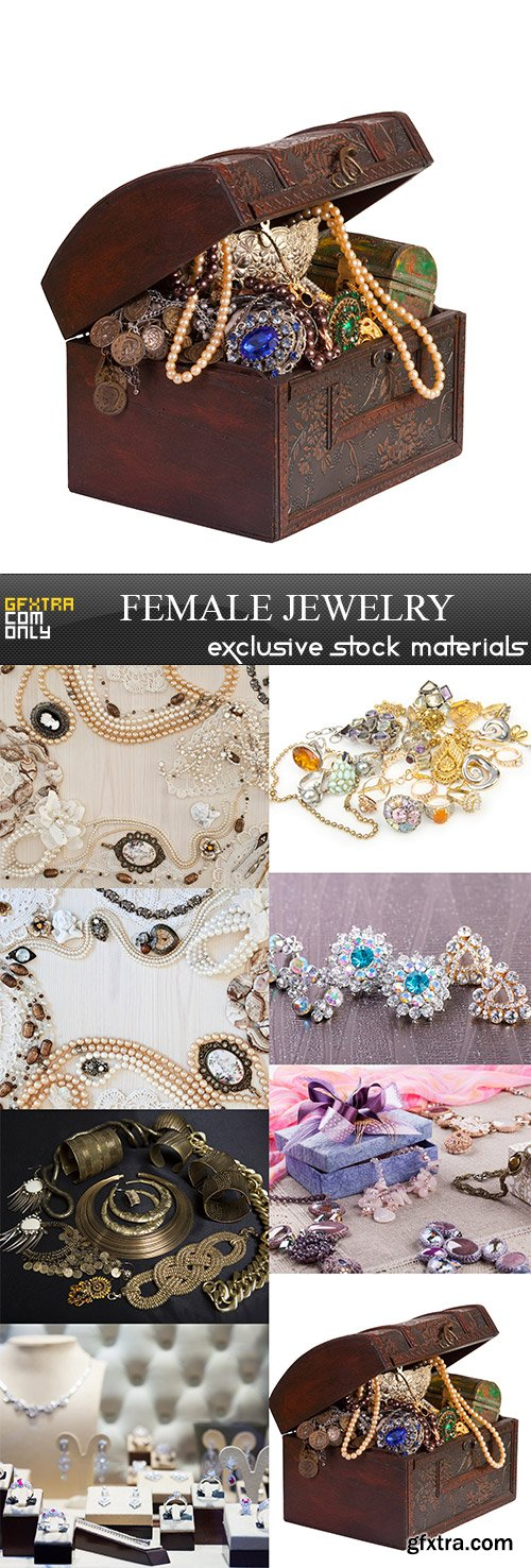 Female jewelry, 8  x  UHQ JPEG