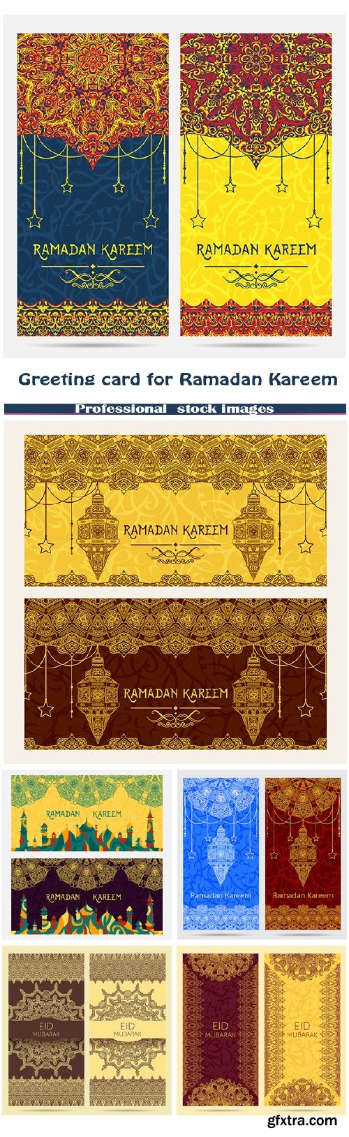 Beautiful greeting card for Ramadan Kareem