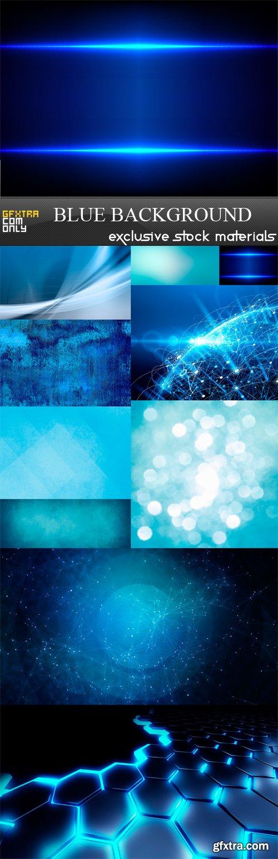 Blue Background - 10 x JPEGs