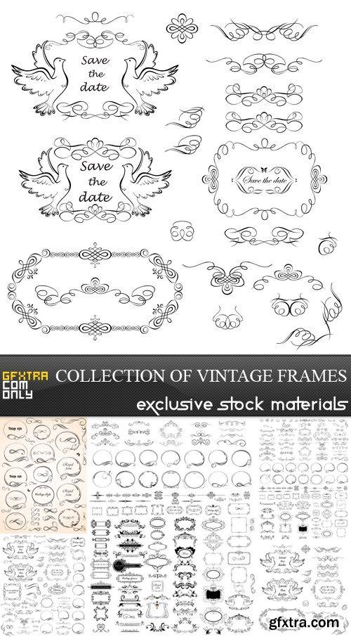 Collection of Vintage Frames - 5 EPS