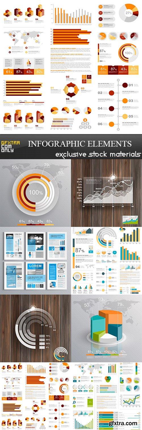 Infographic elements, 8  x  EPS