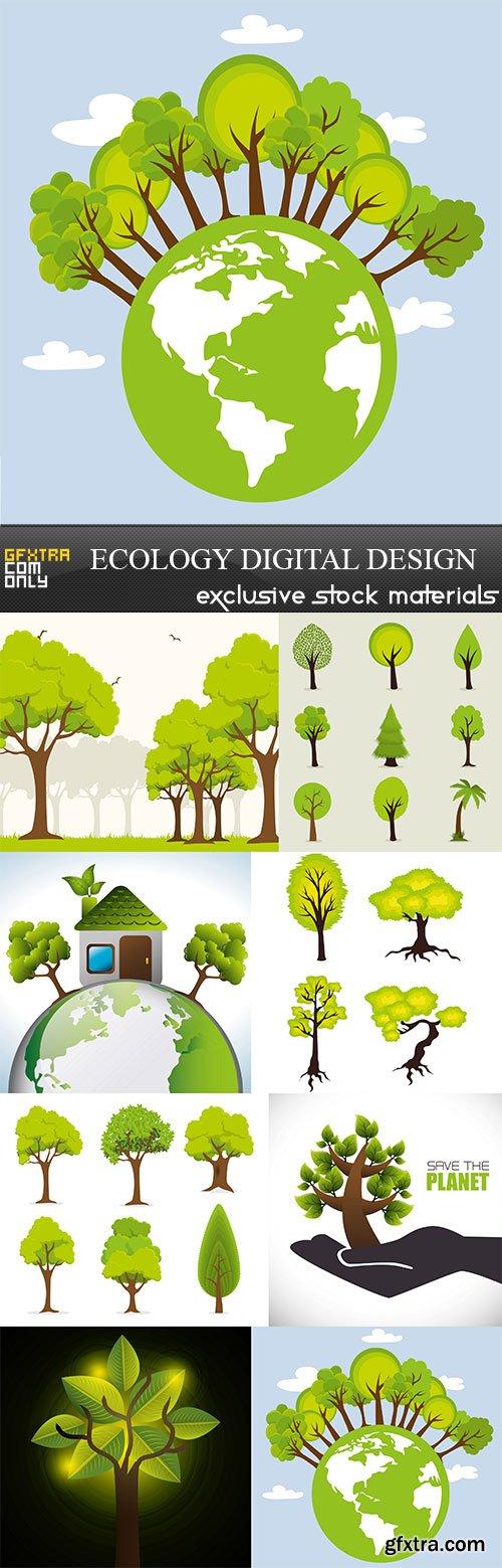 Ecology digital design, 8  x  UHQ JPEG