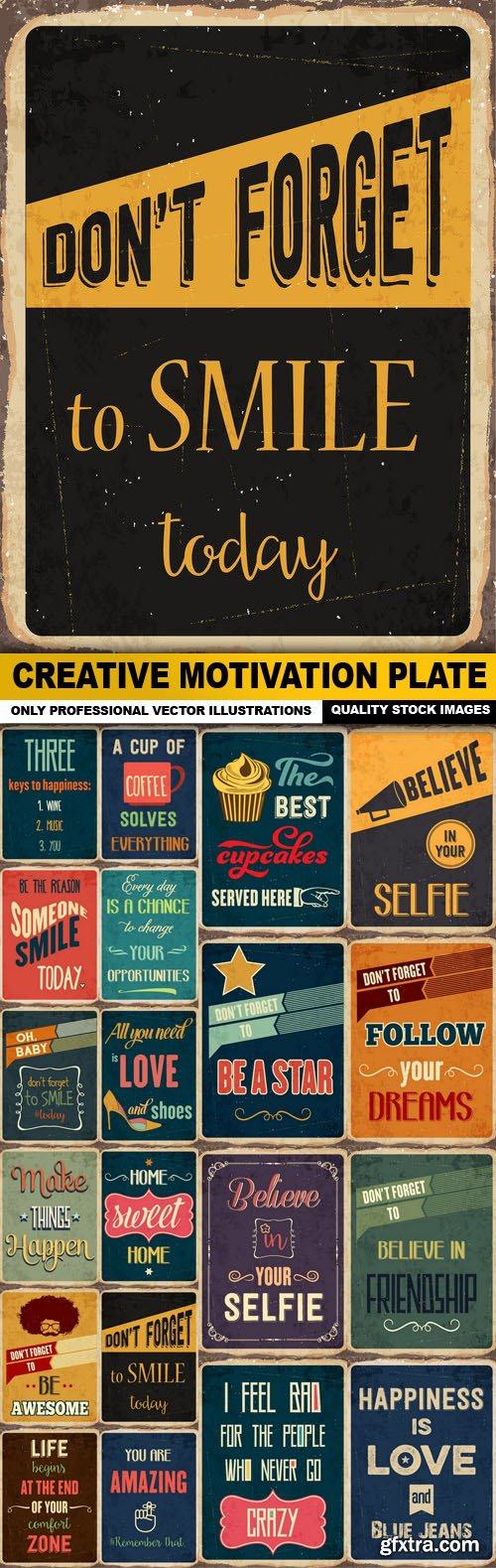Creative Motivation Plate - 20 Vector
