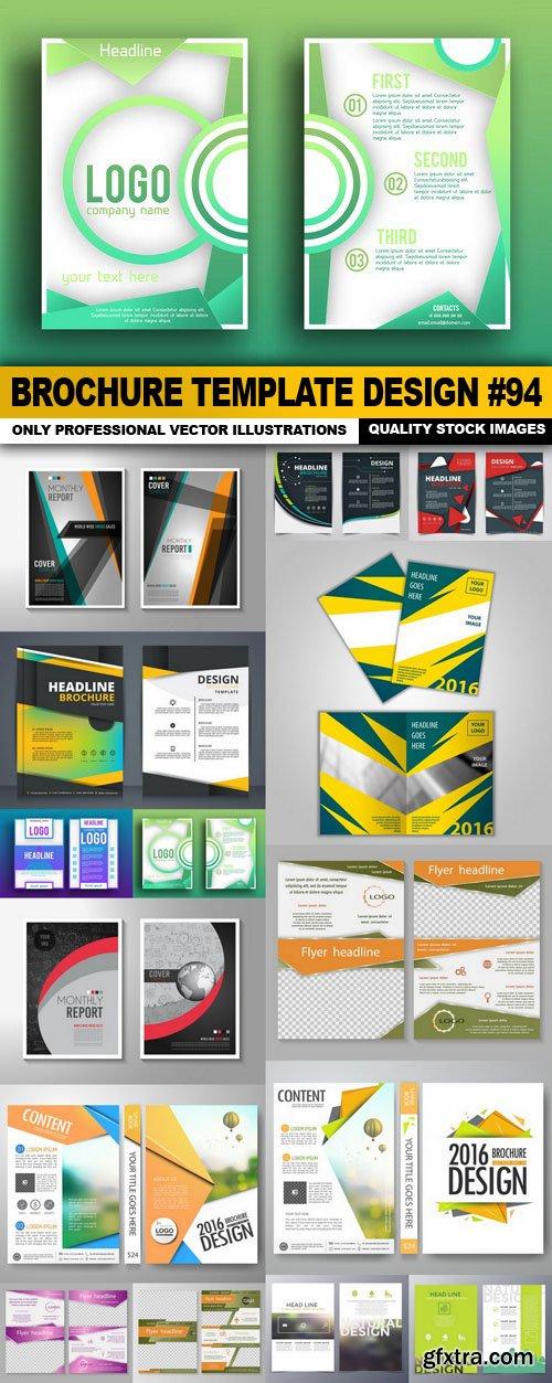 Brochure Template Design #94 - 15 Vector