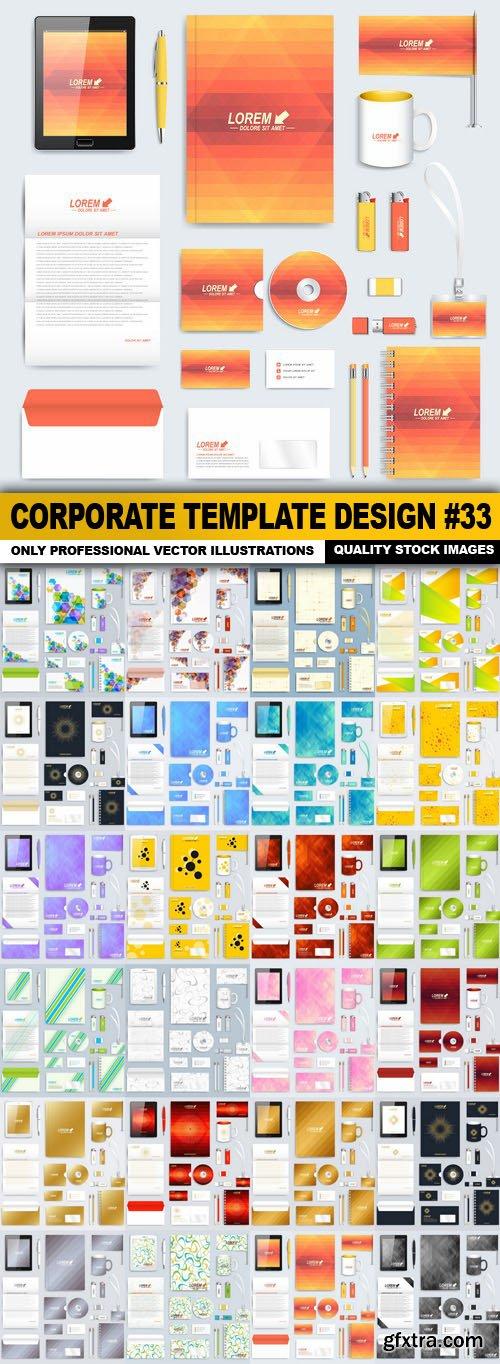 Corporate Template Design #33 - 25 Vector
