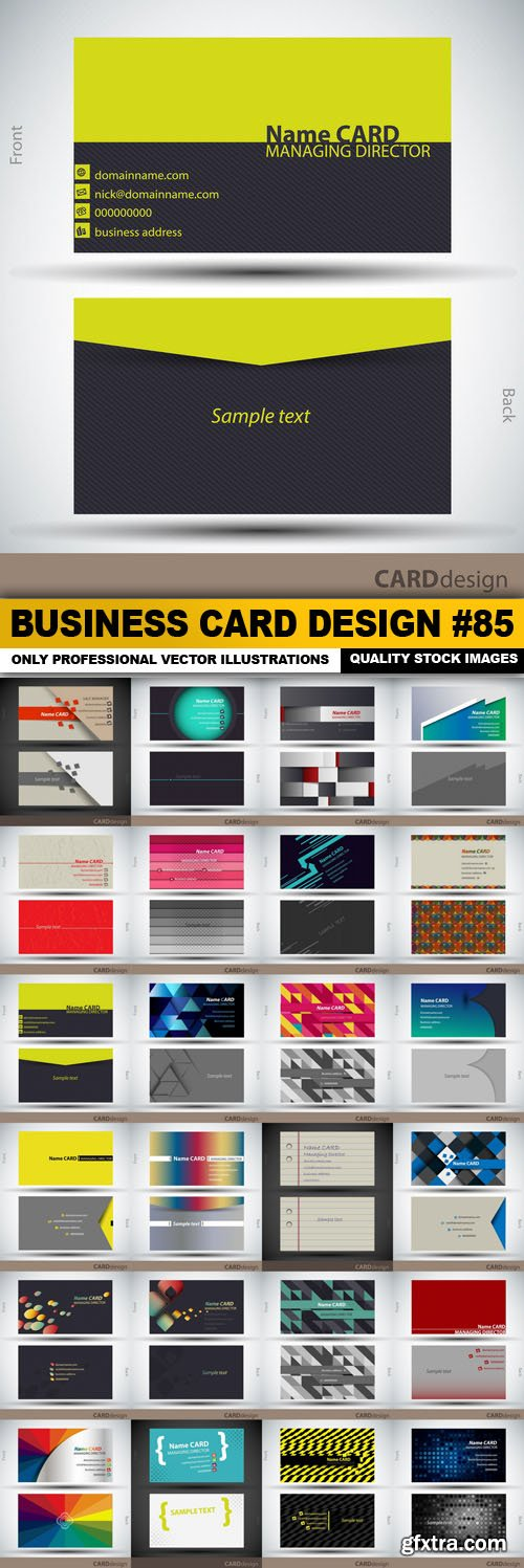 Business Card Design #85 - 24 Vector