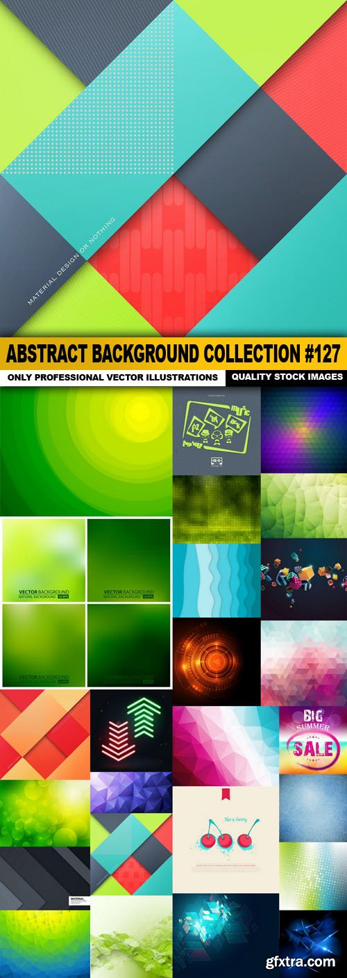Abstract Background Collection #127 - 25 Vector