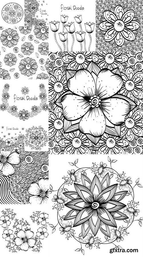Floral Design - Doodle Illustration