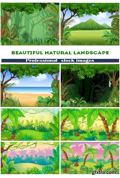Illustration of beautiful natural landscape