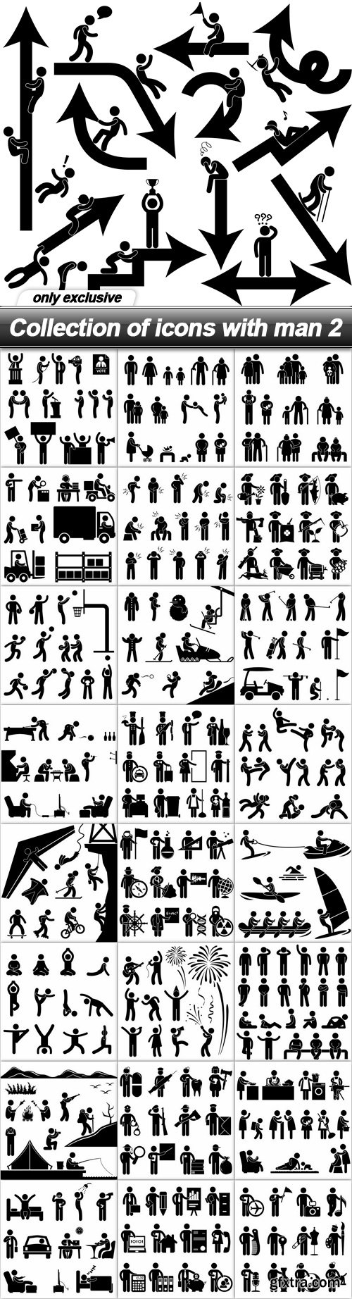 Collection of icons with man 2 - 25 EPS