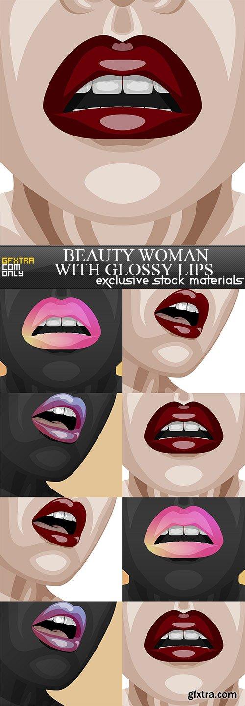 Beauty Woman with glossy Lips, 8  x  UHQ JPEG