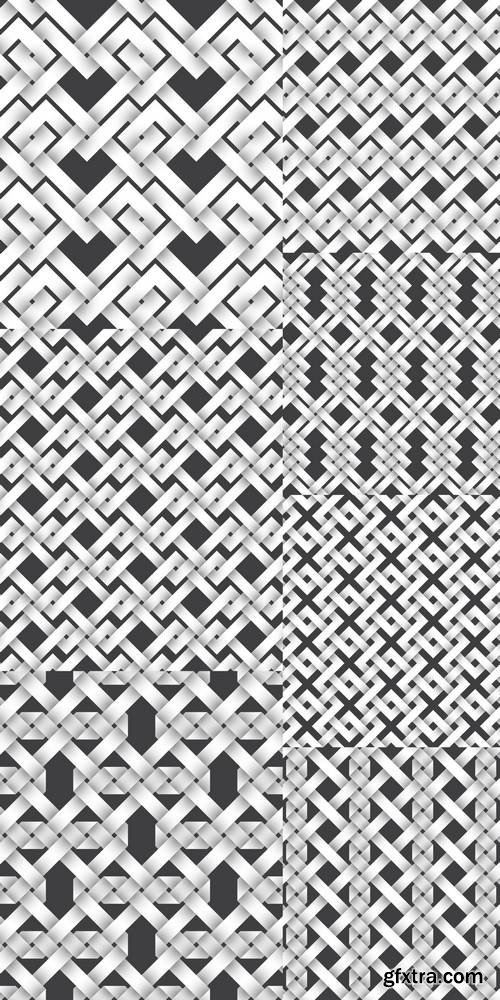 Abstract Repeatable Pattern Background of White Twisted Strips