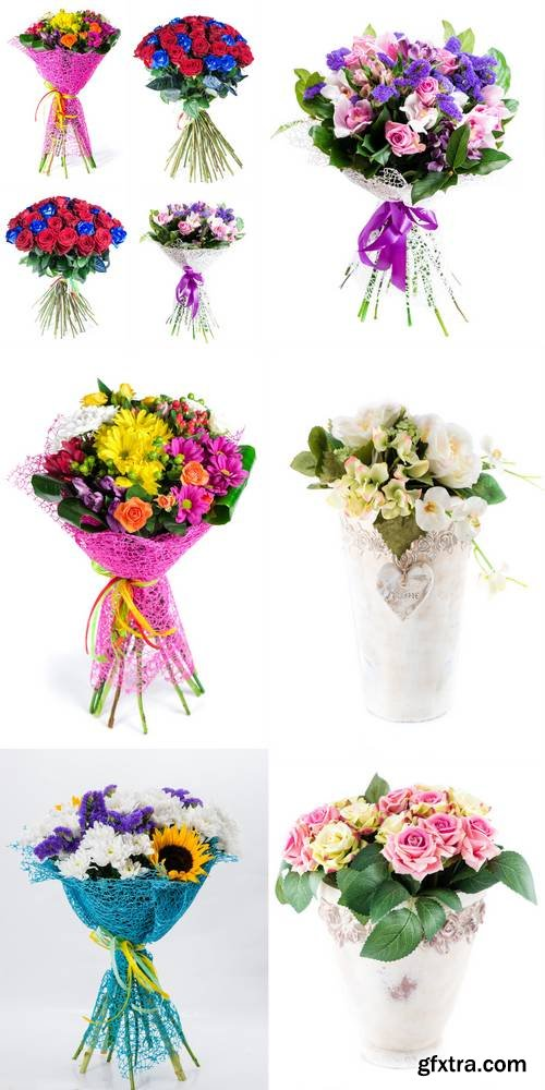 Bouquet of Mix Flowers Isolated