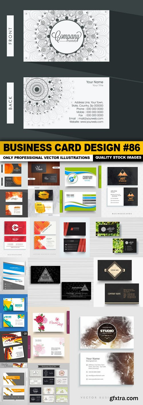 Business Card Design #86 - 20 Vector
