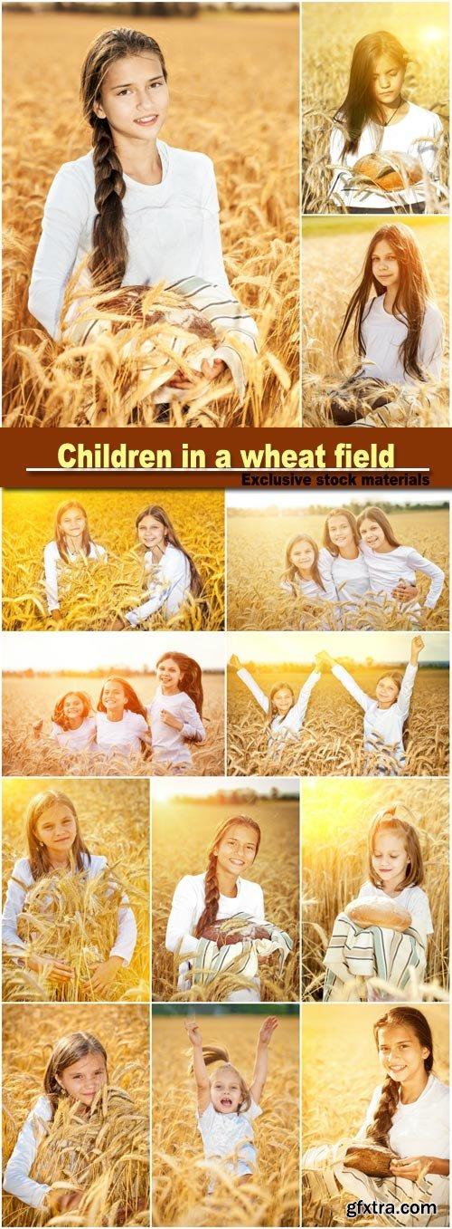 Children in a Wheat Field, Bread 16xJPG