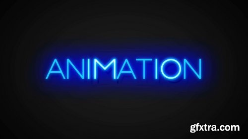 Pond5 Neon Text Effects Toolkit - 3D Animated Color Glow Text Titles Effect Intro 060647714