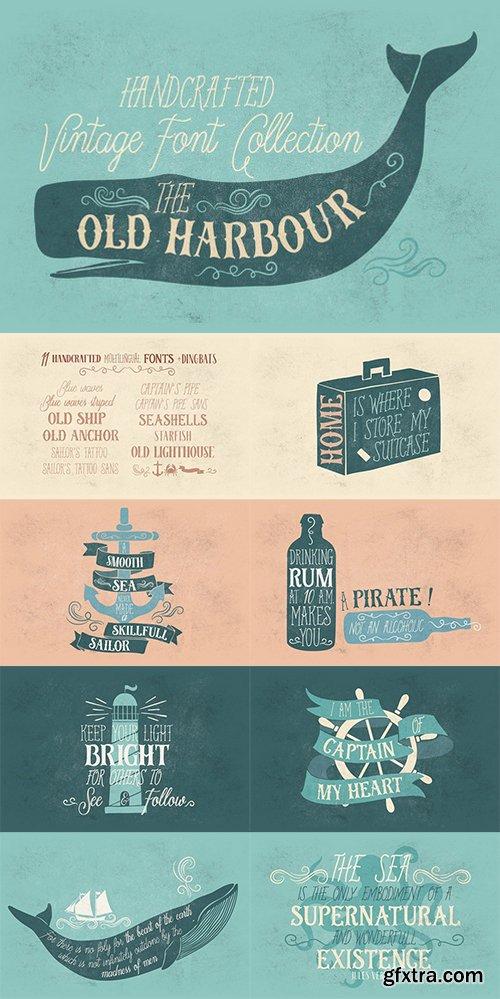 CM - Old Harbour vintage font collection 657724