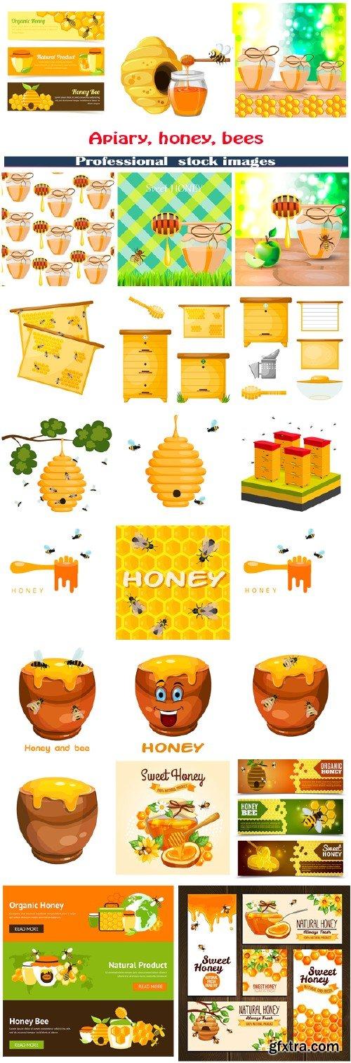 Apiary, honey, bees