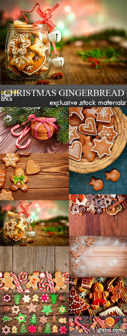 Christmas Gingerbread - 10 x JPEGs