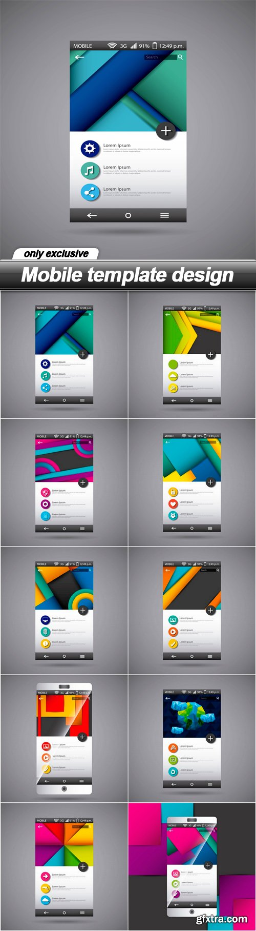 Mobile template design - 10 EPS