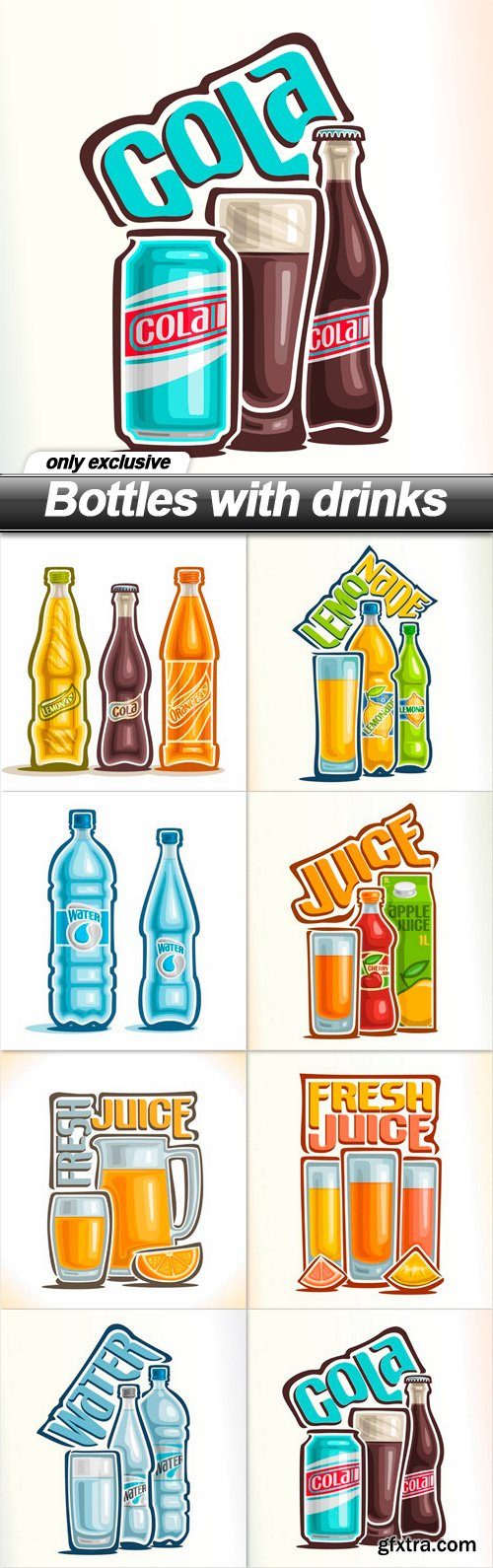 Bottles with drinks - 8 EPS