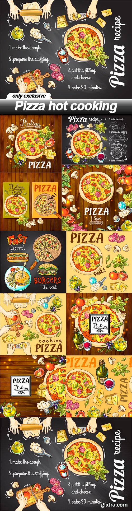 Pizza hot cooking - 11 EPS