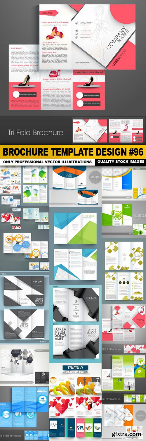 Brochure Template Design #96 - 20 Vector
