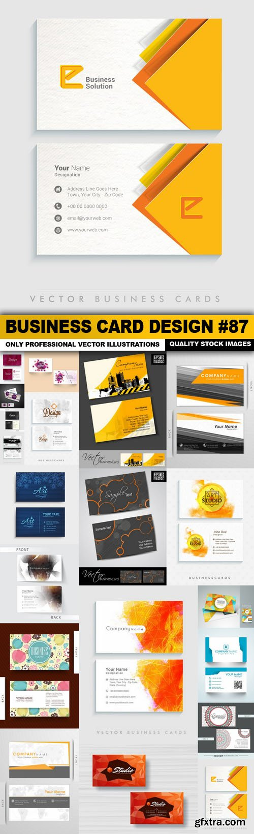 Business Card Design #87 - 20 Vector
