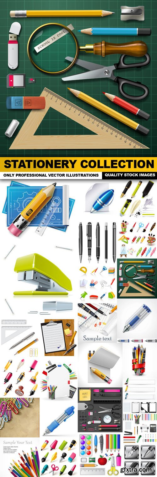 Stationery Collection - 25 Vector